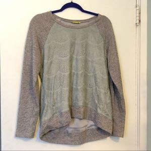 ModCloth Lace Gray Sweatshirt